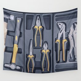 Garage Tool Box, Set of Tools, Tool Box for Construction, Electronic, Building Wall Tapestry