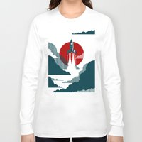 art deco Long Sleeve T-shirts featuring The Voyage by Danny Haas