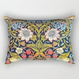 William Morris Strawberry Thief Design 1883 Rectangular Pillow
