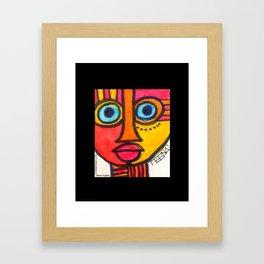 Vibrant Juju Mask #01 Framed Art Print