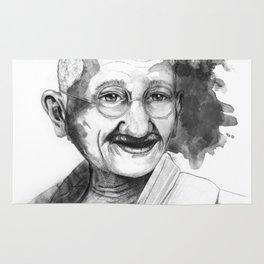 Will & Strength (Ghandi) by carographic Rug