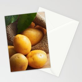 Farmer potato for your Design in the kitchen Stationery Cards