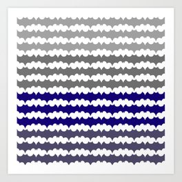 Ombre Abstract Pattern Art Print