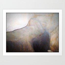 Texture 5 - Limestone Caverns Art Print