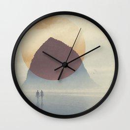 Haystack Rock of Cannon Beach, Oregon Wall Clock
