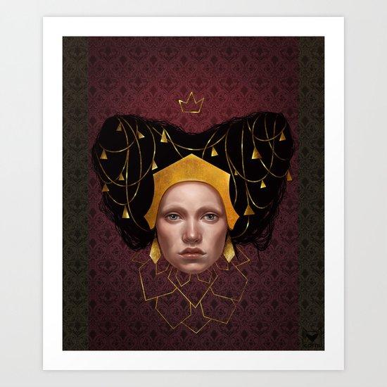 Gold Wire Art Print