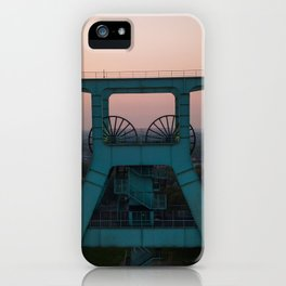 zeche bochum sunset aerial view drone iPhone Case
