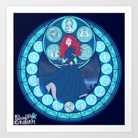 merida Art Prints featuring Merida by NicoleGrahamART