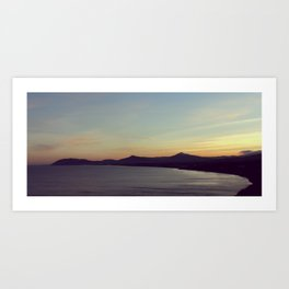 Sun Set on Dalkey Beach Art Print
