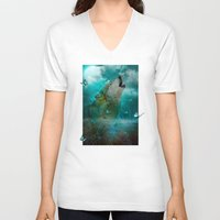 hobbes V-neck T-shirts featuring I'll See You In My Dreams (Cry of the Wolf) by soaring anchor designs