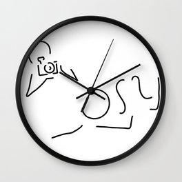 photographer fotoshooting Wall Clock