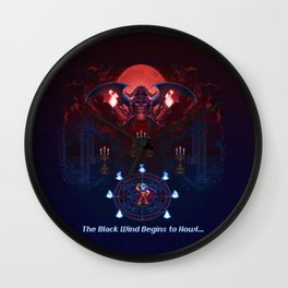 The Black Wind Wall Clock