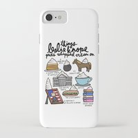 leslie knope iPhone & iPod Cases featuring Things Leslie Knope puts Whipped Cream on by Liana Spiro