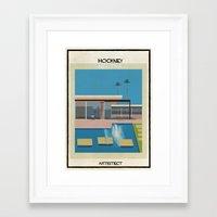 babina Framed Art Prints featuring Hockney+neutra by federico babina