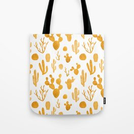 Golden cactus collection Tote Bag