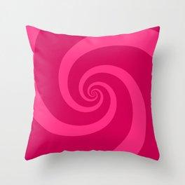 pink vortex Throw Pillow