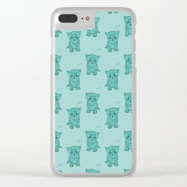 Meh Kittens Clear iPhone Case