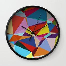Geometric Abstract Art Pattern Nine Wall Clock