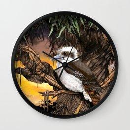 Kookaburra Sits on the Old Gum Tree Wall Clock