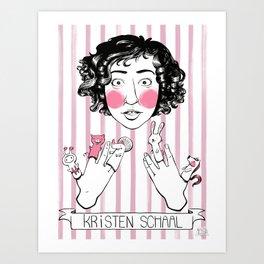 Kristen Schaal and Finger Puppets Art Print