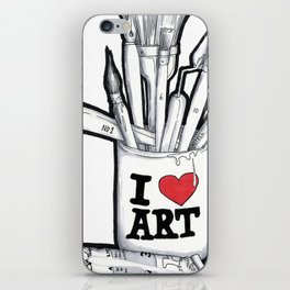 I heart art iPhone Skin