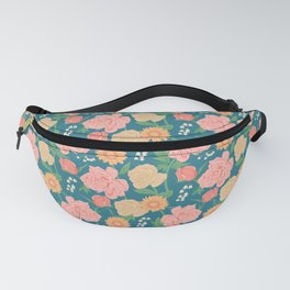 Paint by Number Florals Fanny Pack