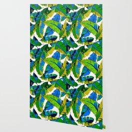 BANANA PALM LEAF PARADISE Wallpaper