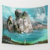 scuba Wall Tapestries featuring the find by Seamless