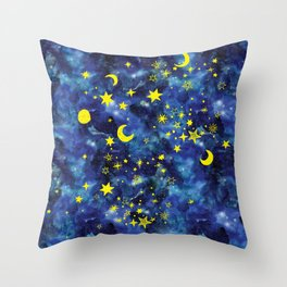 Stars That Can Laugh Throw Pillow