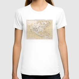 Vintage Map of North America in 1670 (1889) T-shirt