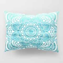 Mandala : Aqua Sunset Waters Pillow Sham