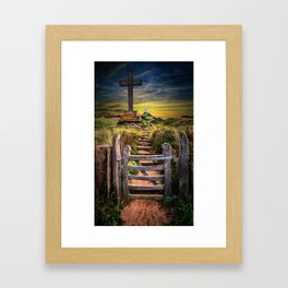 Gate to the Holy Island Framed Art Print