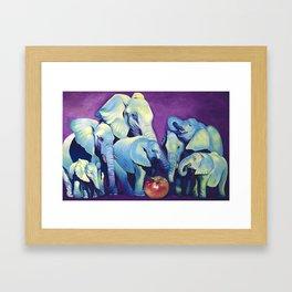 Elephat's Soccer Framed Art Print