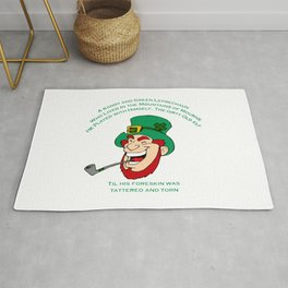A Randy And Green Leprechaun St Patrick's Day Limerick Rug