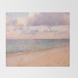 Dreamy Beach View Throw Blanket