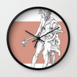 Neanderthal girl Wall Clock