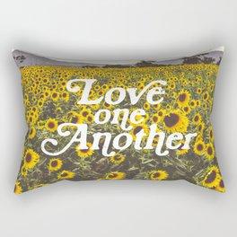 Love One Another Sunflowers Rectangular Pillow