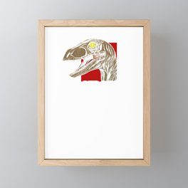 Awesome Velociraptor Dinosaur Ferocious Dino Framed Mini Art Print