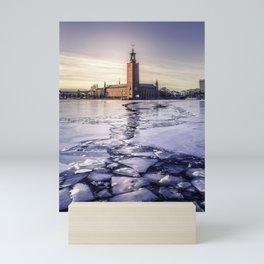 Stockholm City Hall in Winter Mini Art Print