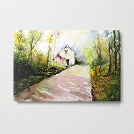 Beautiful Cottage Garden Painting Metal Print