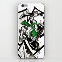 one piece iPhone & iPod Skins featuring One Piece - Zoro by RISE Arts
