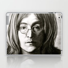 John in Black and White Laptop & iPad Skin