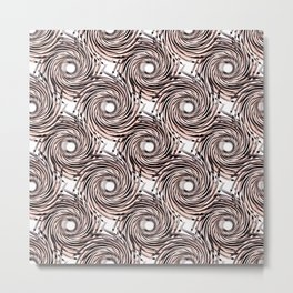 Abstract pattern. black,gray , beige pinstripes on a white background. Metal Print