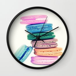 Pastel Macaroons  Wall Clock