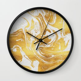 White Dragon Marble Wall Clock
