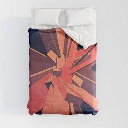 Vintage Orange Rectangles Comforters