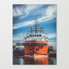 Boat in Harbour Canvas Print