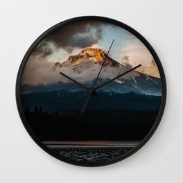 Mt. Hood at Sunset Wall Clock