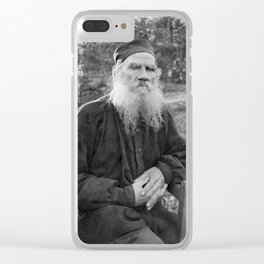 Leo Tolstoy - Russian Author Portrait Clear iPhone Case