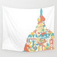 atlanta Wall Tapestries featuring Atlanta, GA by ahutchabove